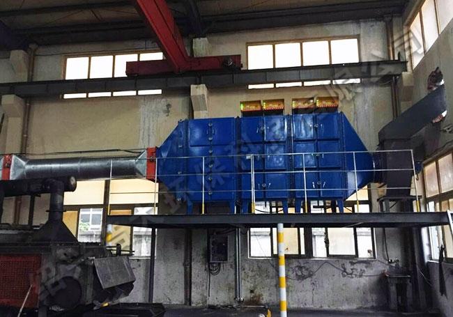 水喷淋+热处理油雾收集器工程